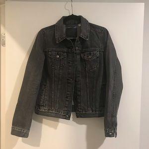 Levi's denim black wash jacket